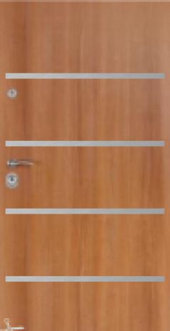 Drzwi Delta ROYAL 84P GŁADKIE Z APLIKACJAMI INOX 90N