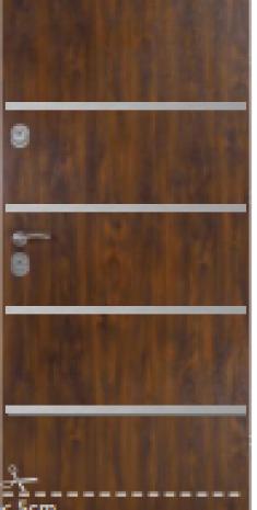 Drzwi Delta DE LUXE 56S GŁADKIE Z APLIKACJAMI 80N/90E