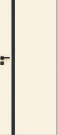 Drzwi Vetro E biały (szyba czarna)