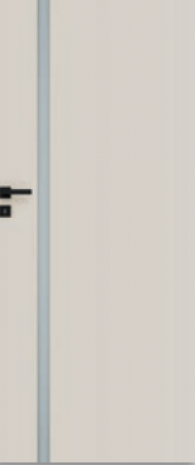 Drzwi Vetro E ecru (szyba czarna)