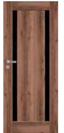 DRZWI MONA W02 (z czarnym panelem)
