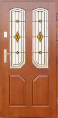 Drzwi  z witrażem DP-2 Derpal - Wrocław