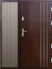 Drzwi płytowe INOX 3D 108