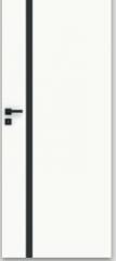 Drzwi Vetro E biały (szyba czarna) DRE - Wrocław